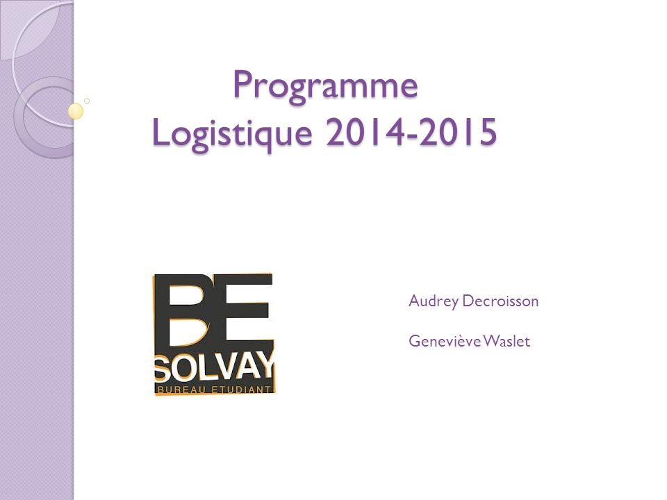 Programme Logistique 2014-2015