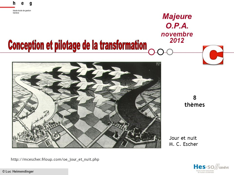 Conception et pilotage de la transformation