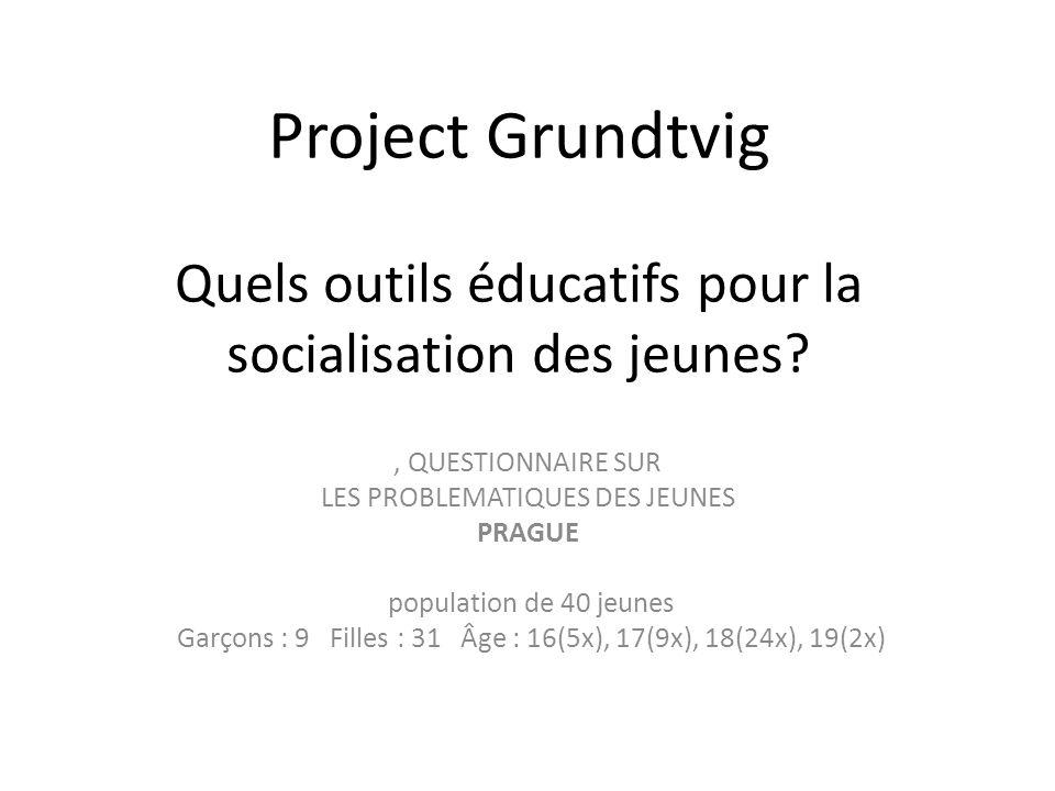 Project Grundtvig Quels outils éducatifs pour la socialisation des jeunes