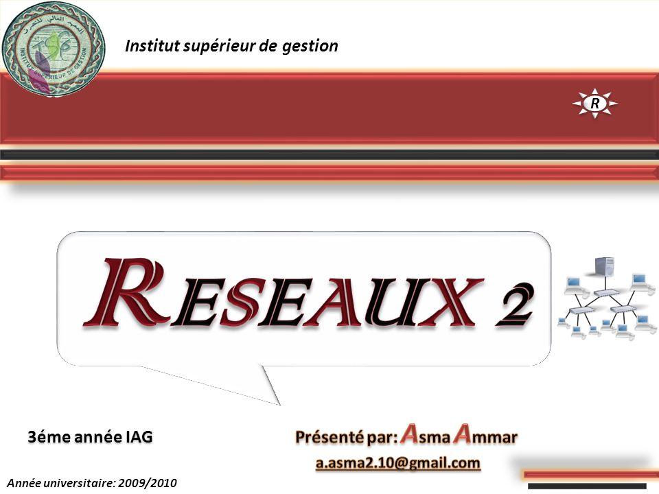 RESEAUX 2 Institut supérieur de gestion Présenté par: Asma Ammar