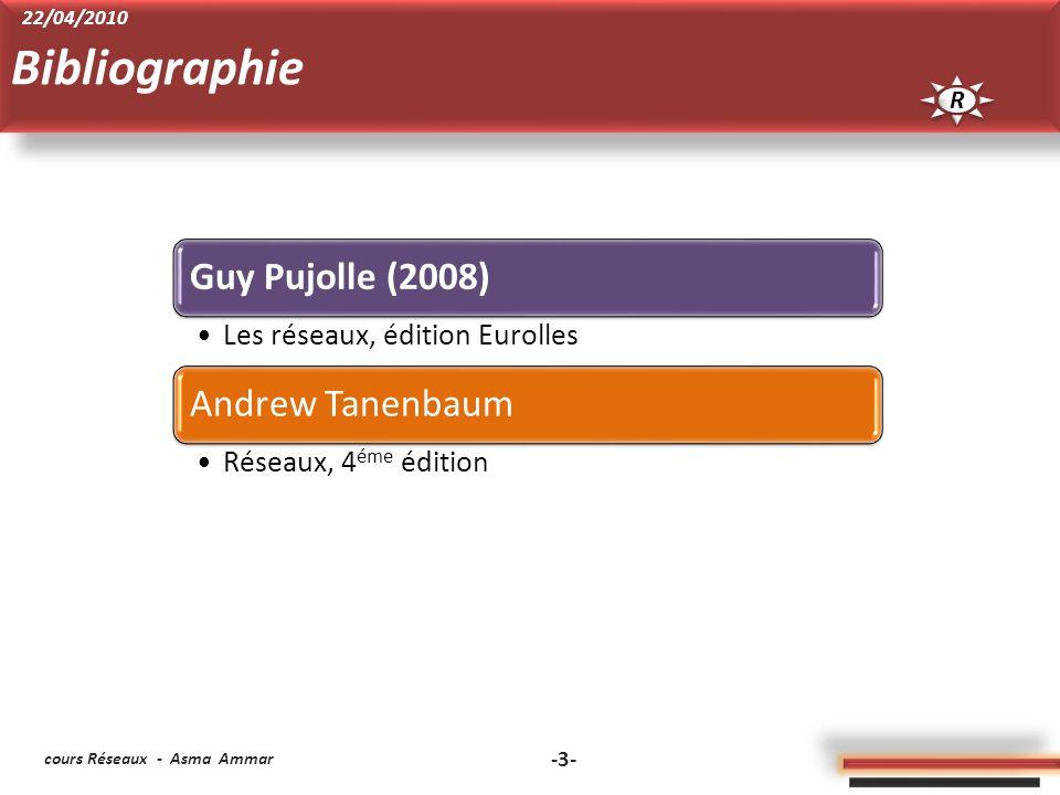 Bibliographie R 22/04/2010 cours Réseaux - Asma Ammar