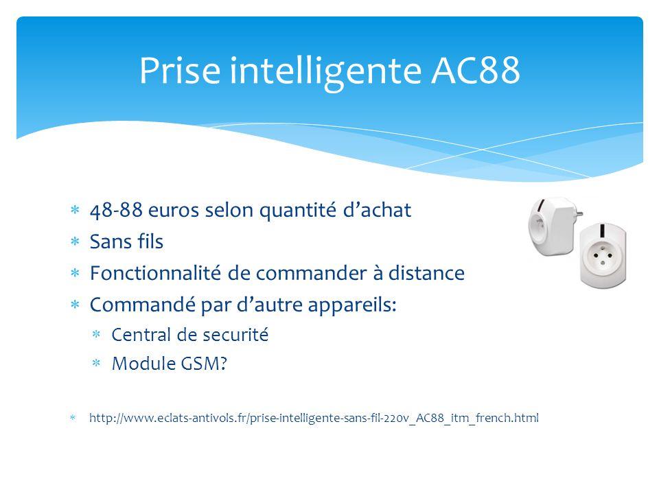 Prise intelligente AC88 48-88 euros selon quantité d'achat Sans fils