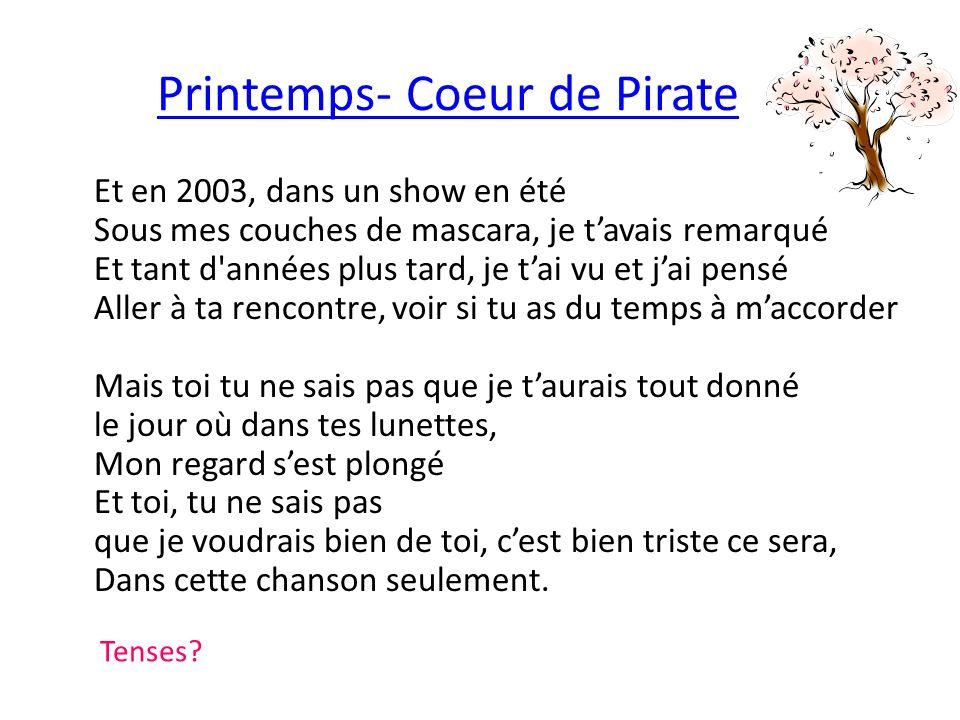 Printemps- Coeur de Pirate