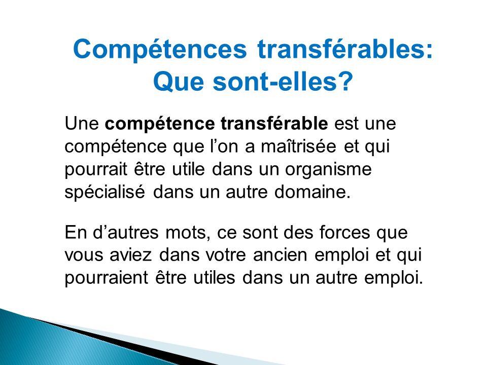 Compétences transférables: