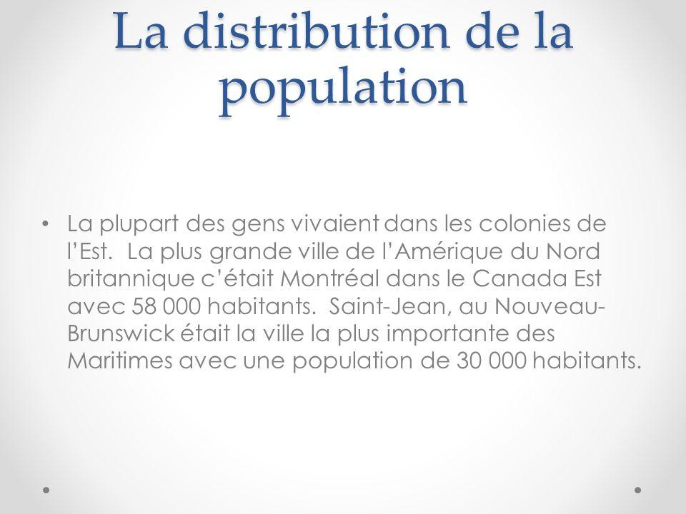 La distribution de la population