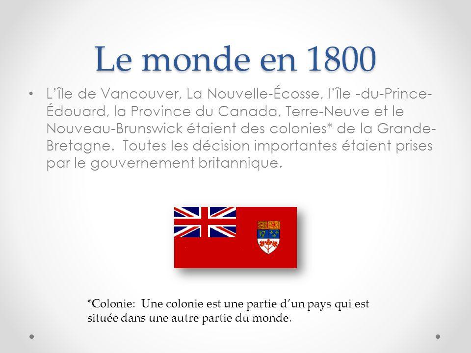 Le monde en 1800
