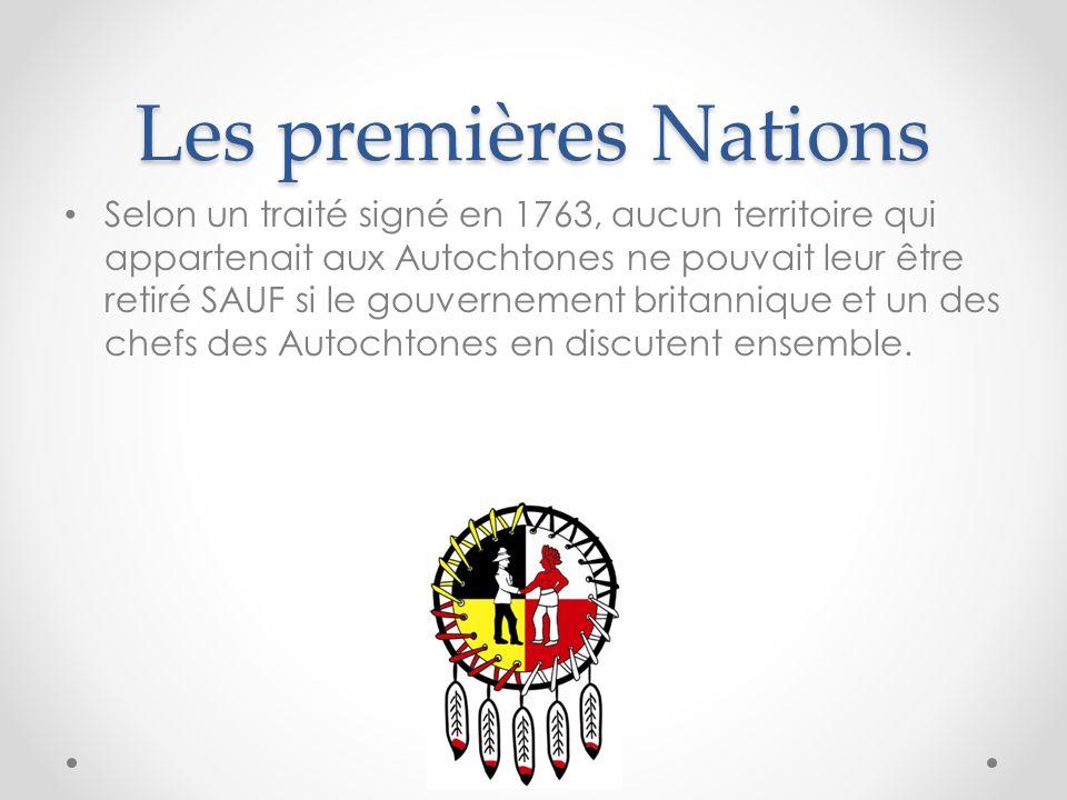 Les premières Nations