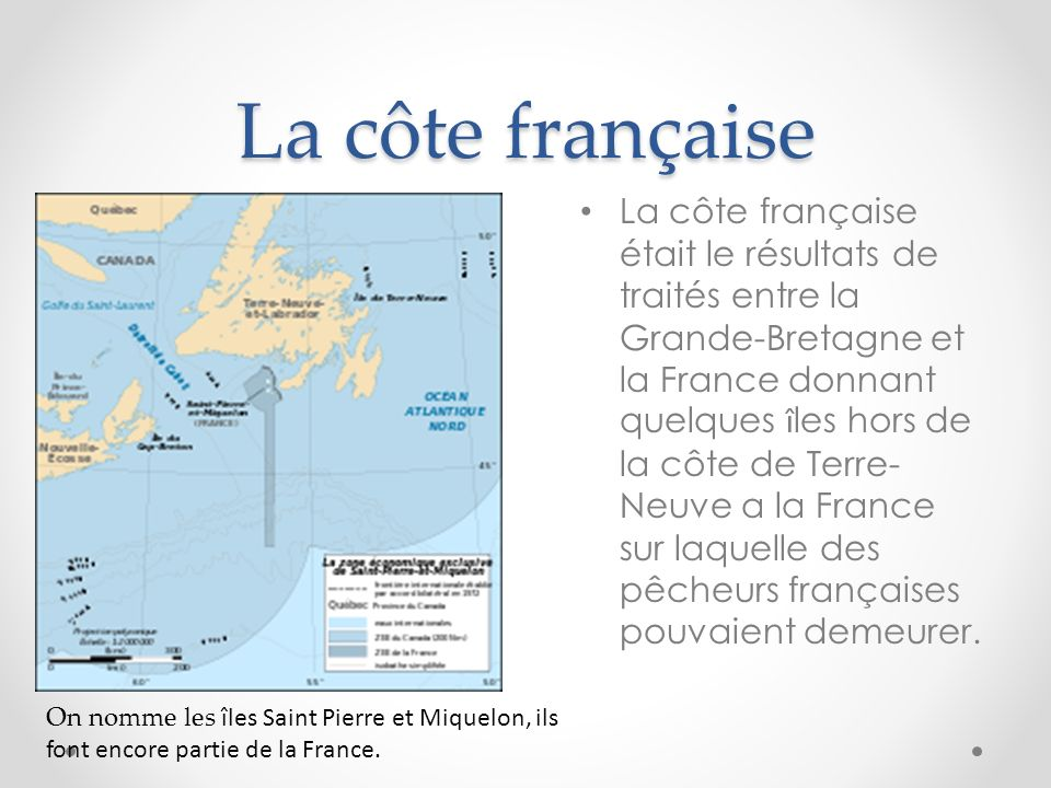 La côte française