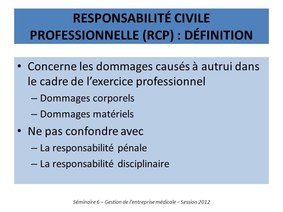 Responsabilité civile professionnelle (RCP) : définition