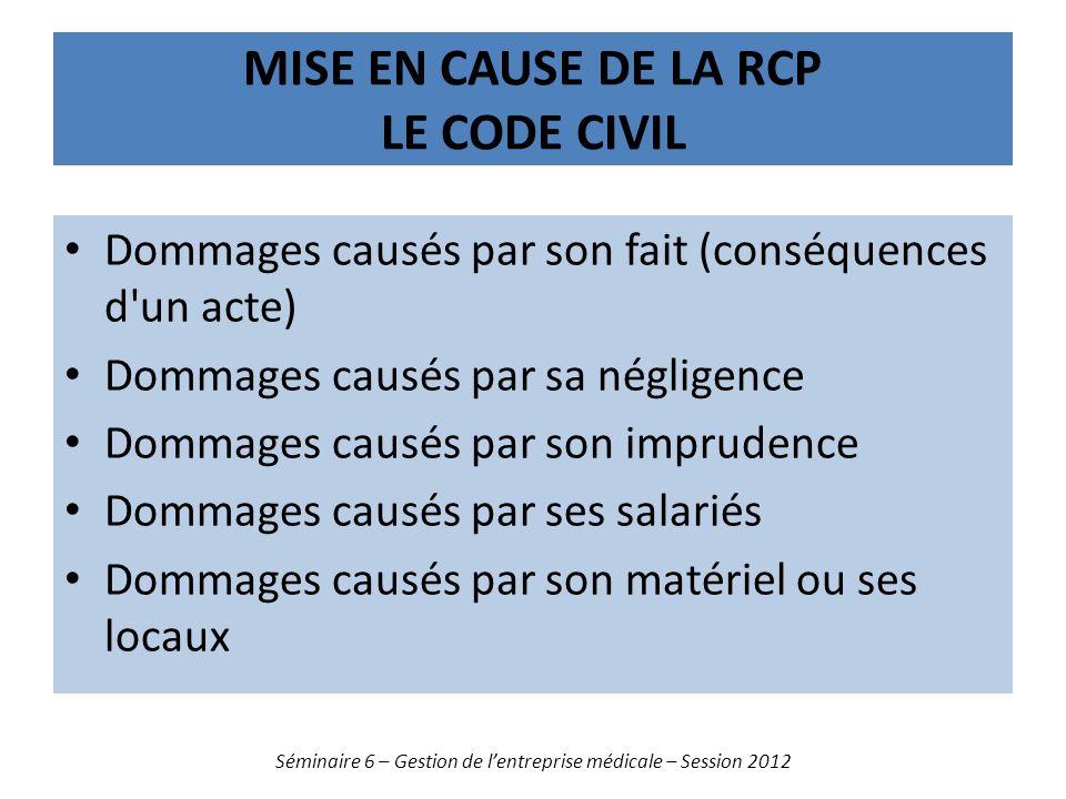 Mise en cause de la rcp le code civil
