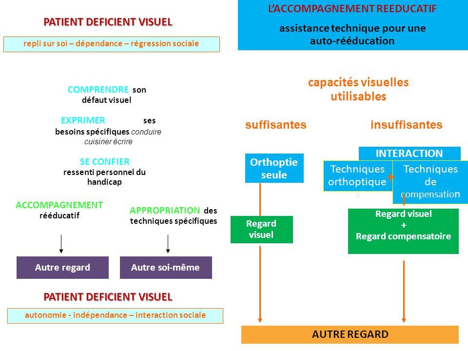 + capacités visuelles utilisables L'ACCOMPAGNEMENT REEDUCATIF