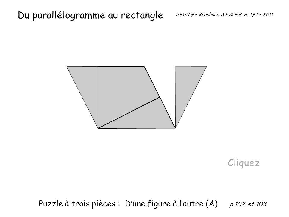 Du parallélogramme au rectangle