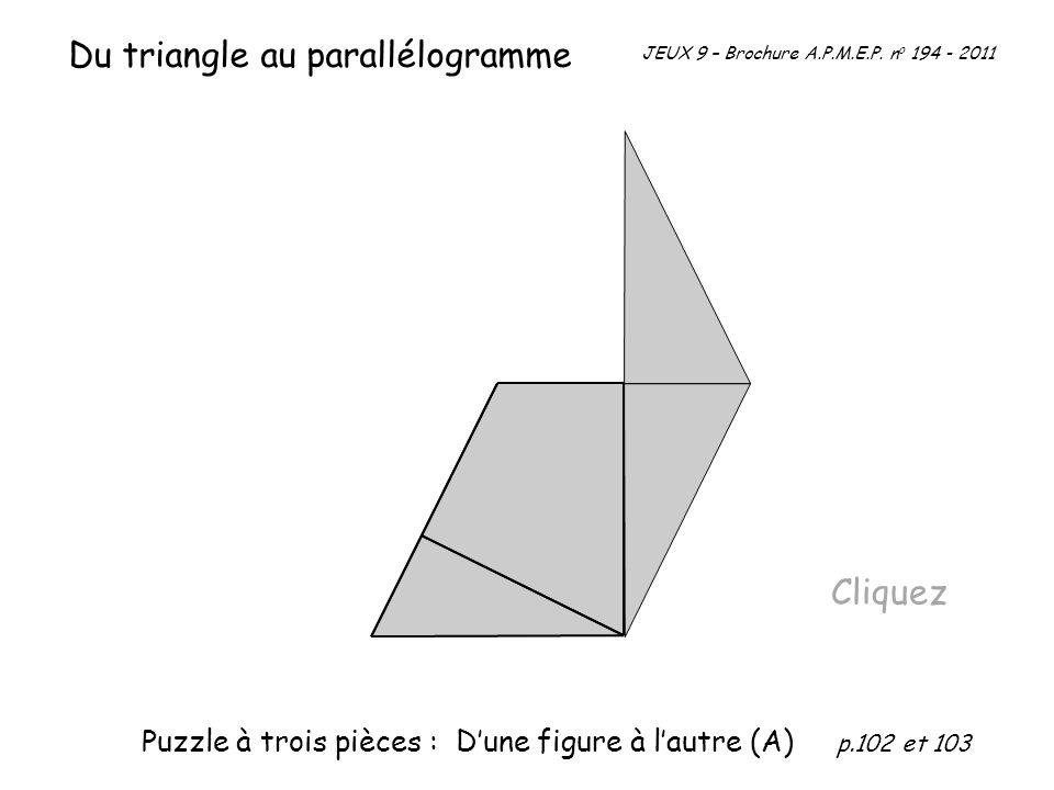 Du triangle au parallélogramme
