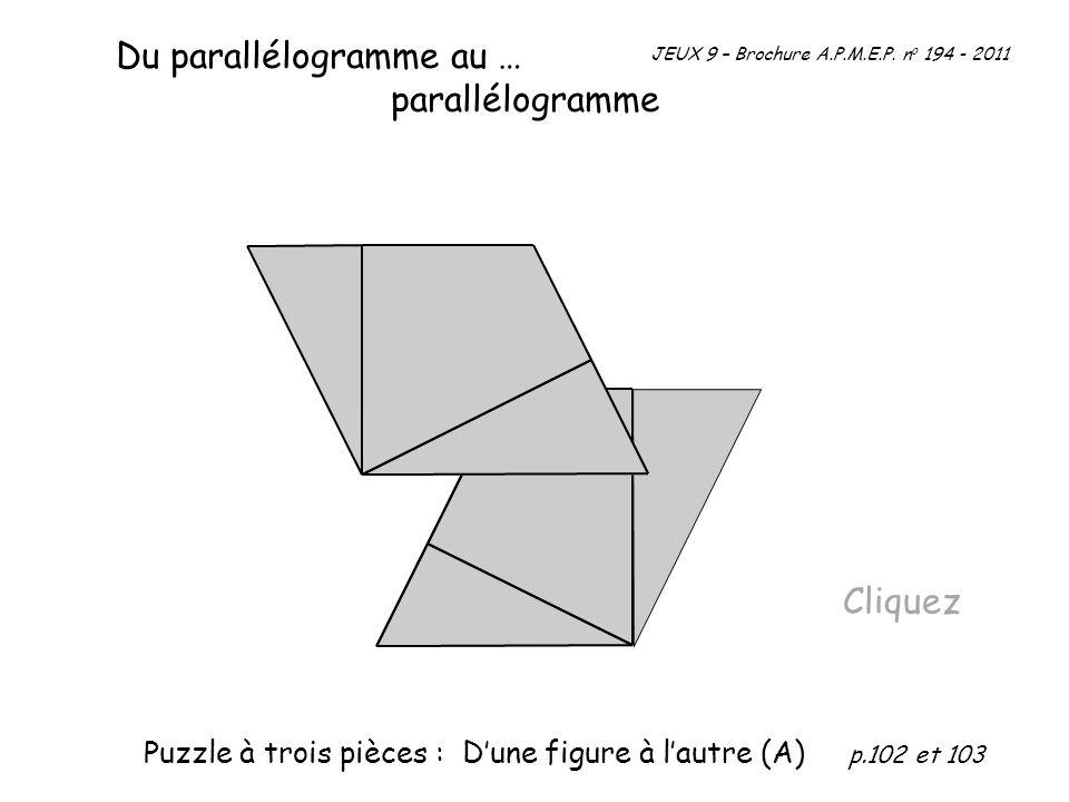 Du parallélogramme au … parallélogramme