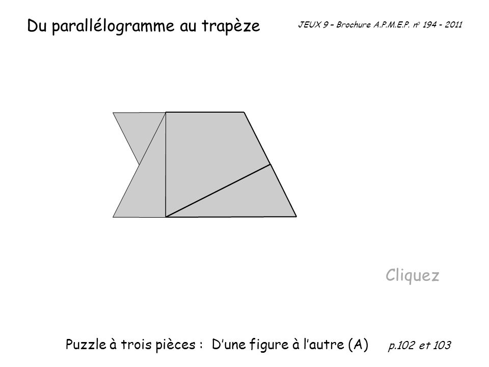 Du parallélogramme au trapèze