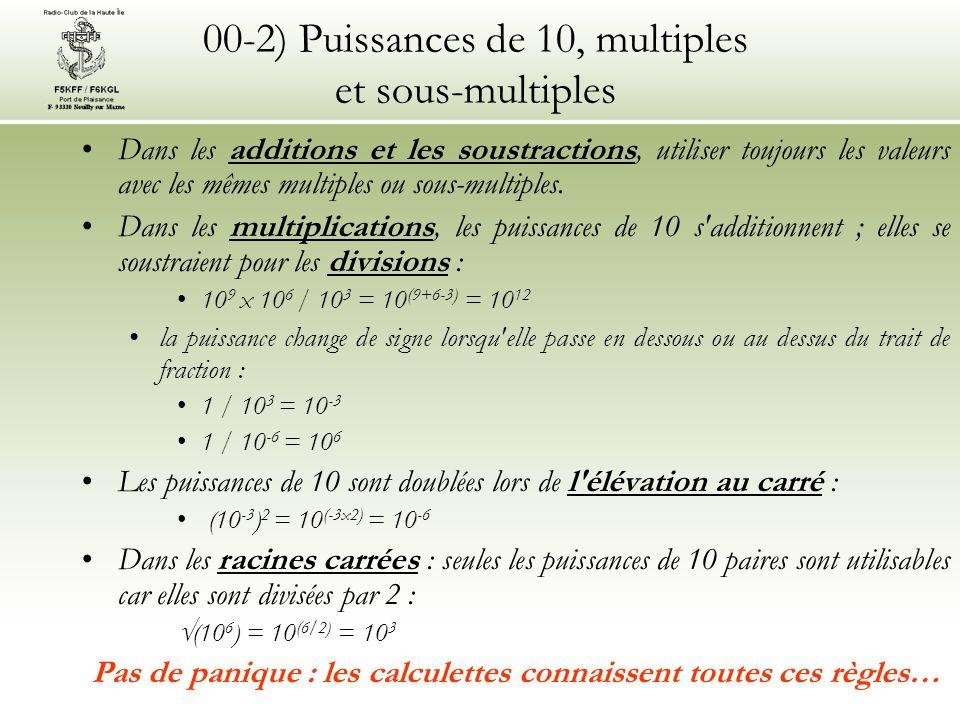 00-2) Puissances de 10, multiples et sous-multiples