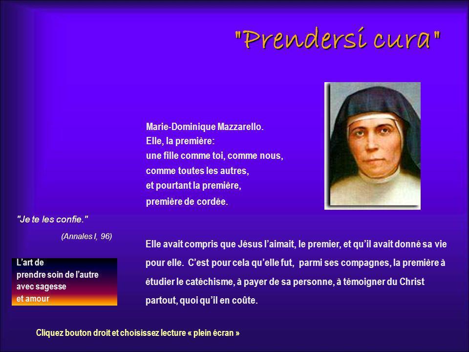 Prendersi cura Marie-Dominique Mazzarello. Elle, la première: