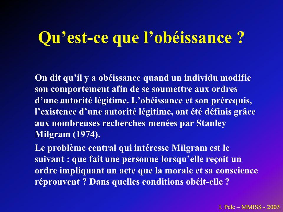 Qu'est-ce que l'obéissance