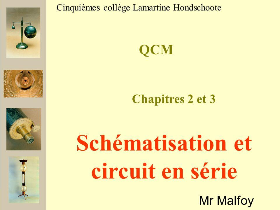 Schématisation et circuit en série