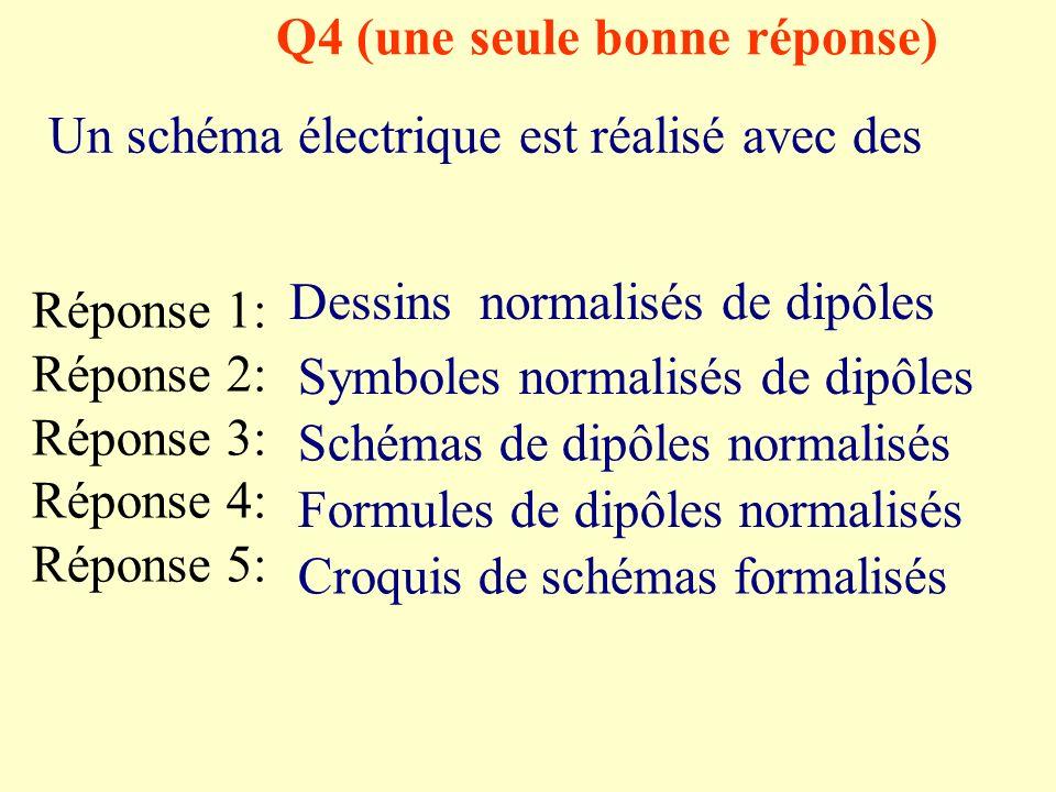 Q4 (une seule bonne réponse)