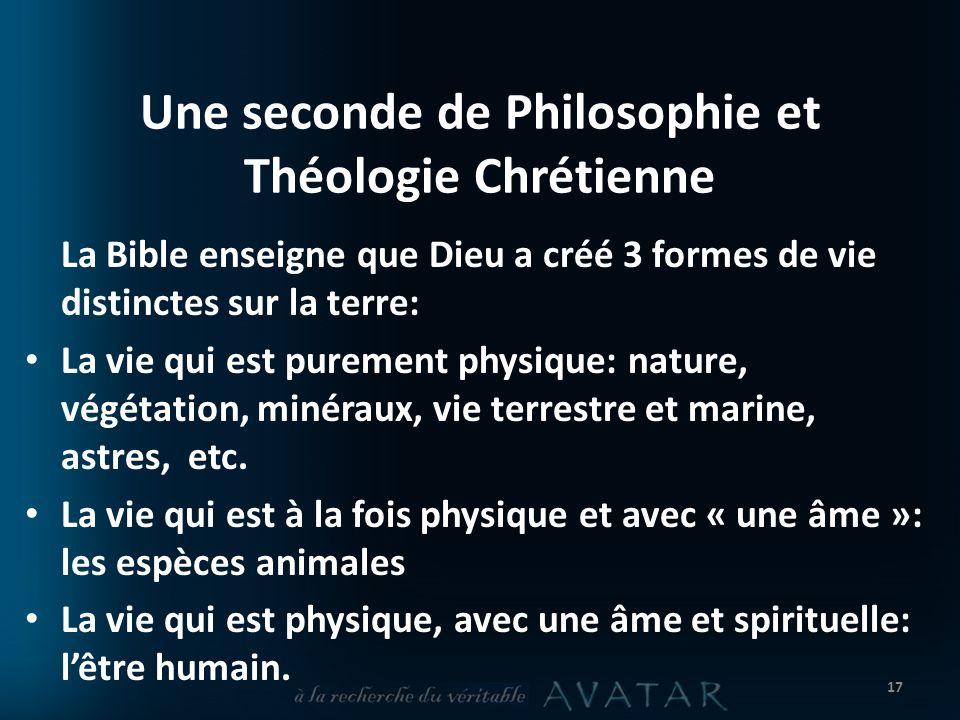 Une seconde de Philosophie et Théologie Chrétienne