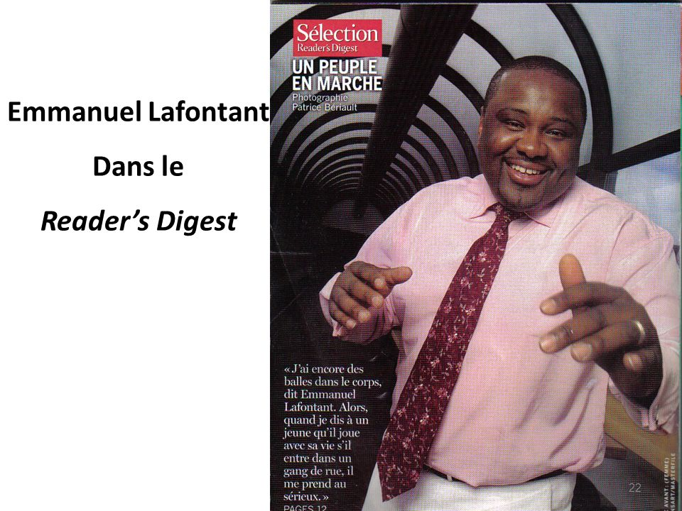 Emmanuel Lafontant Dans le Reader's Digest