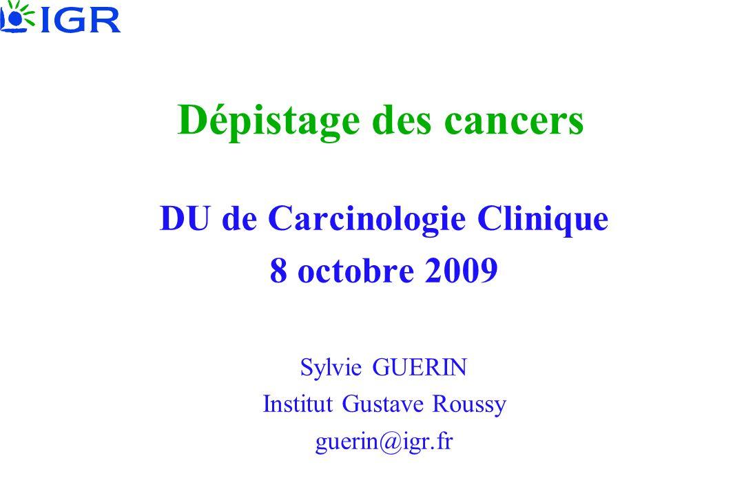 DU de Carcinologie Clinique