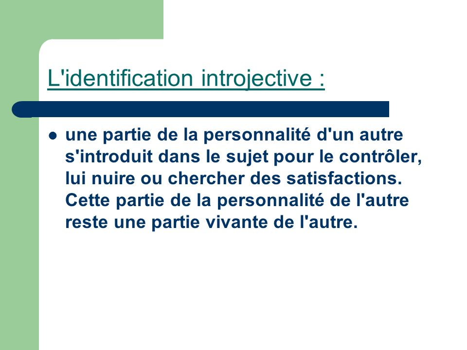 L identification introjective :