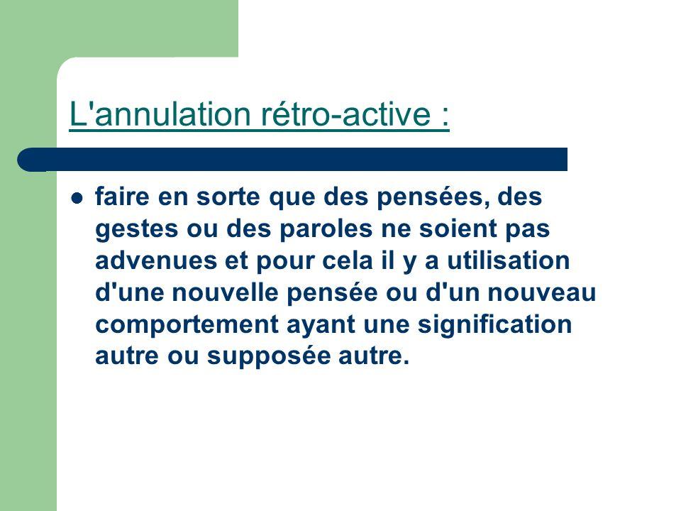L annulation rétro-active :