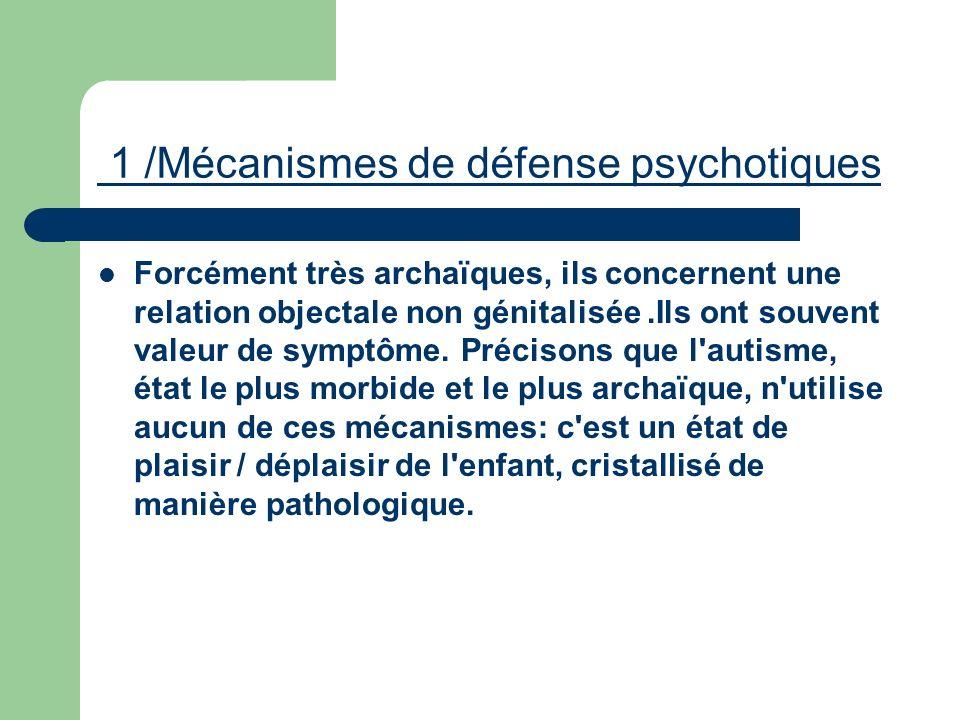 1 /Mécanismes de défense psychotiques