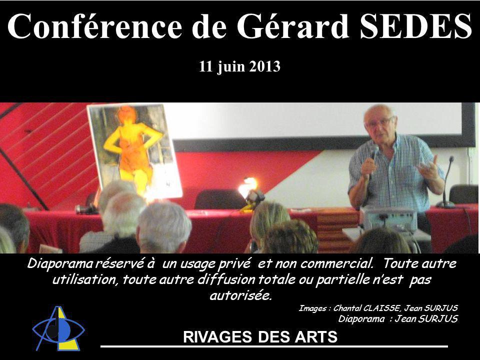 Conférence de Gérard SEDES