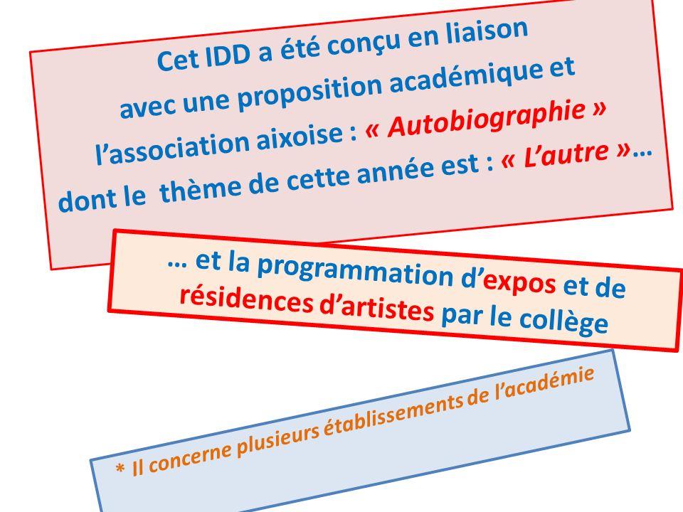 Cet IDD a été conçu en liaison avec une proposition académique et