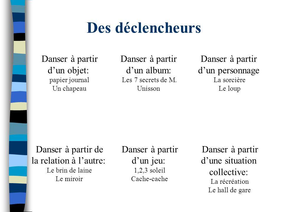 Des déclencheurs Danser à partir d'un objet: