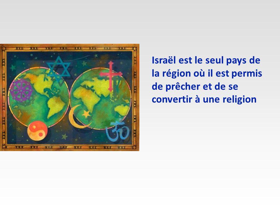 Israël est le seul pays de la région où il est permis de prêcher et de se convertir à une religion