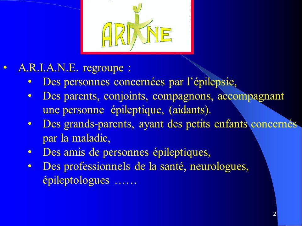 A.R.I.A.N.E. regroupe : Des personnes concernées par l'épilepsie,