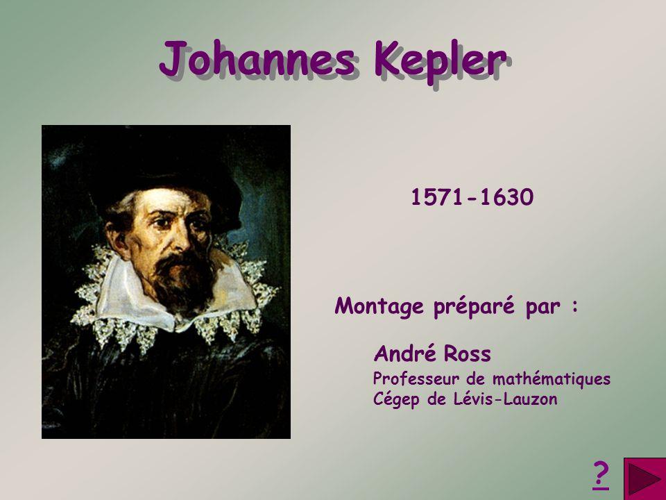 Johannes Kepler 1571-1630 Montage préparé par : André Ross