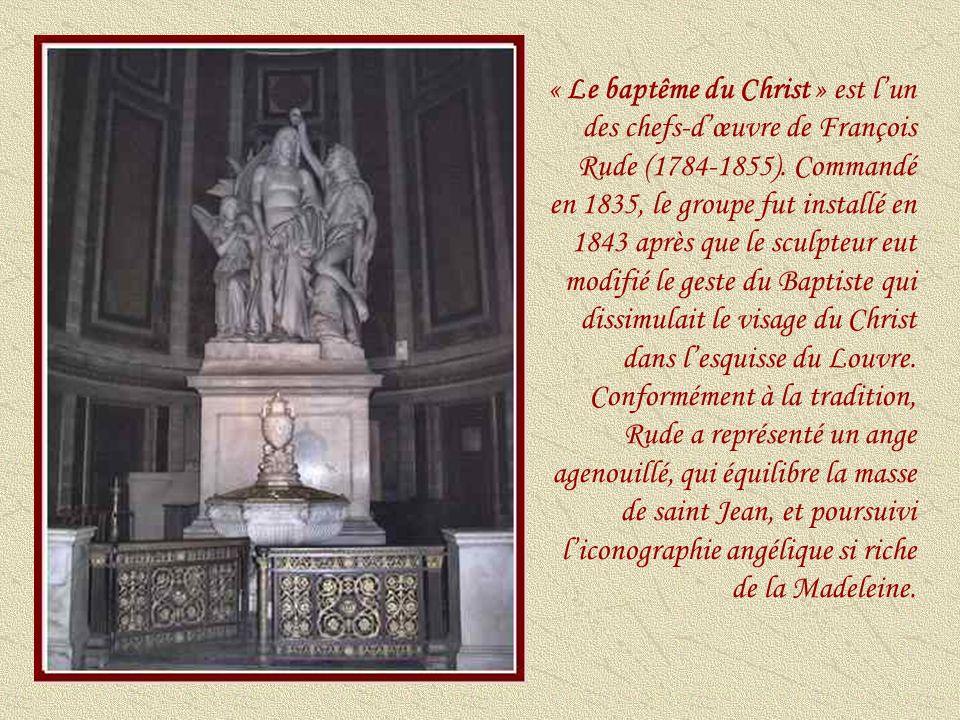 « Le baptême du Christ » est l'un des chefs-d'œuvre de François Rude (1784-1855).