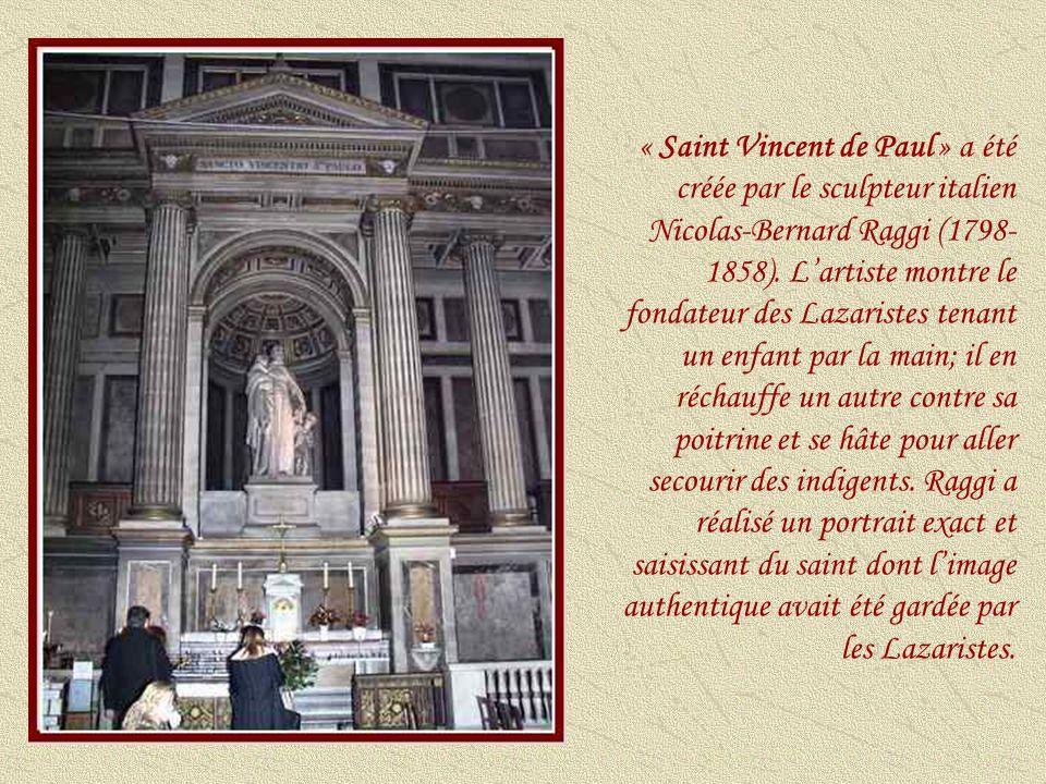 « Saint Vincent de Paul » a été créée par le sculpteur italien Nicolas-Bernard Raggi (1798-1858).