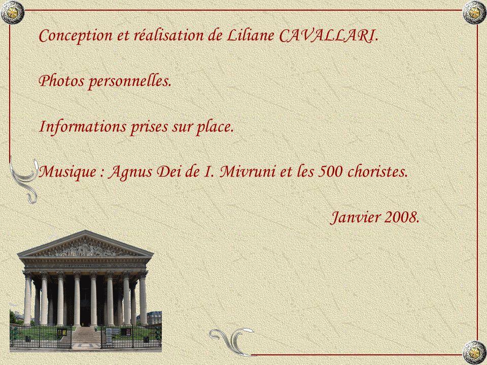 Conception et réalisation de Liliane CAVALLARI.