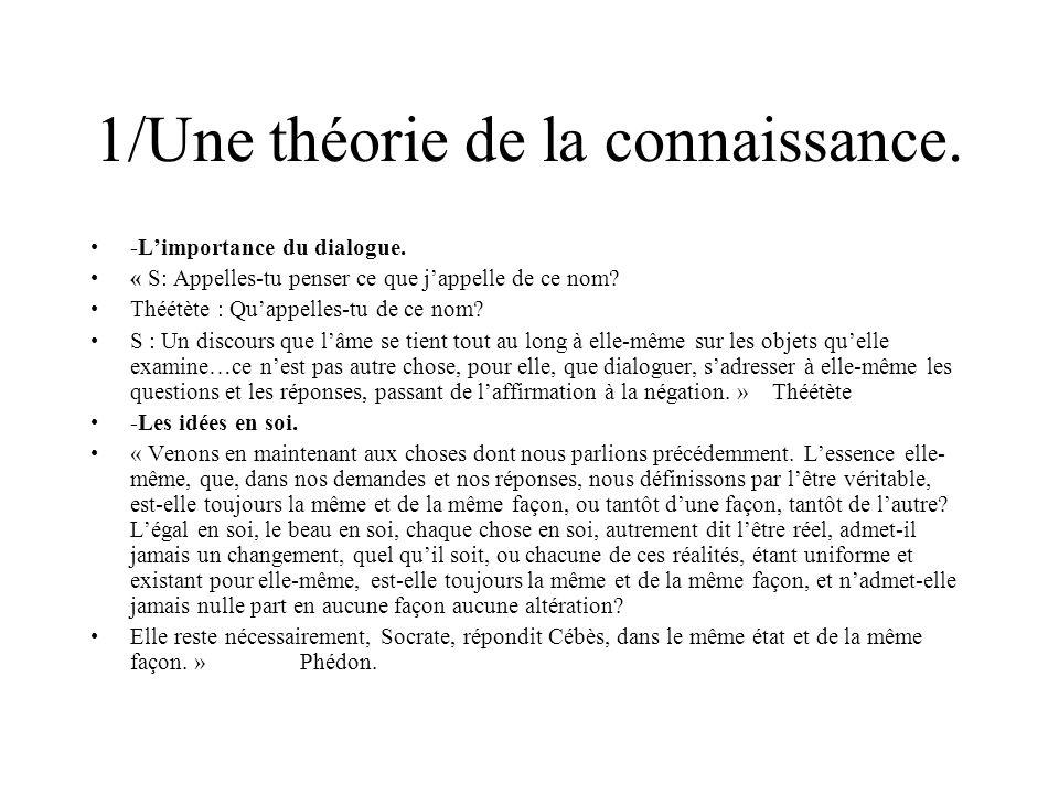 1/Une théorie de la connaissance.