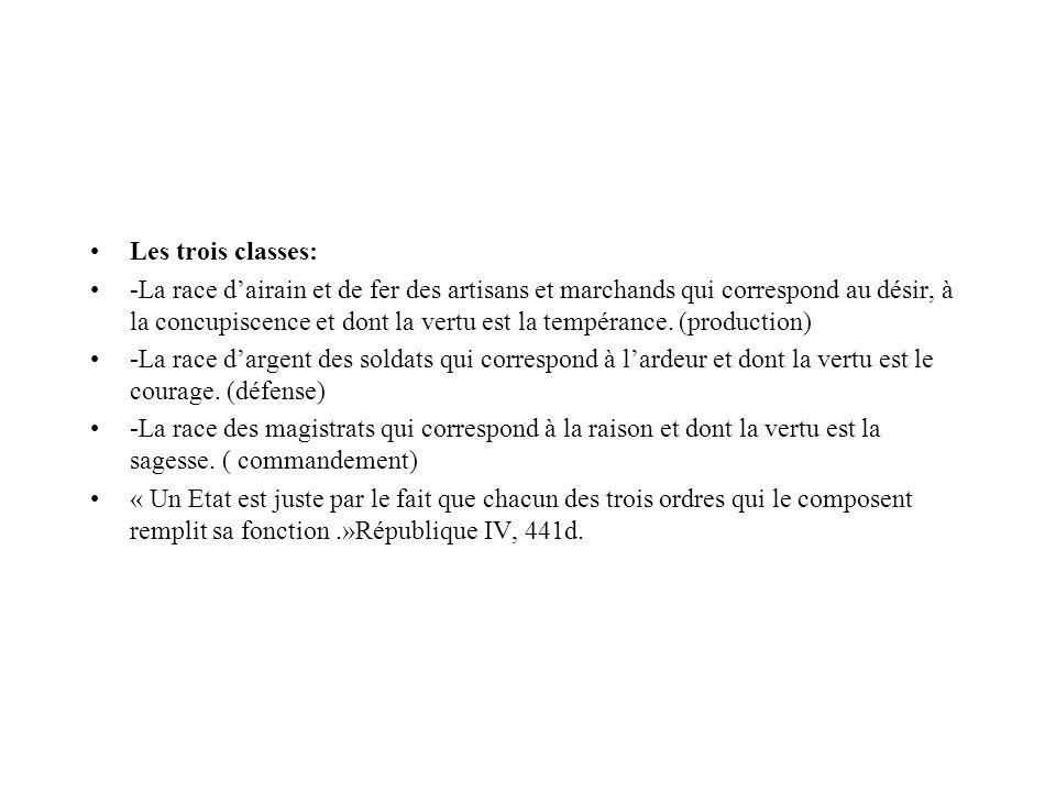 Les trois classes:
