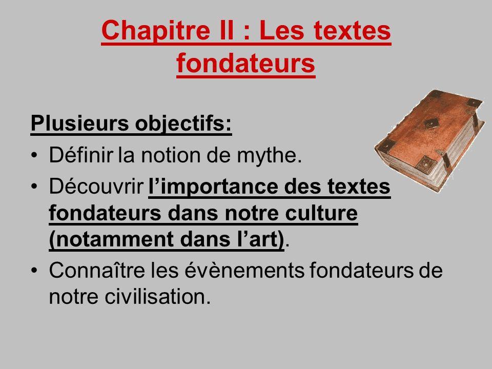 Chapitre II : Les textes fondateurs