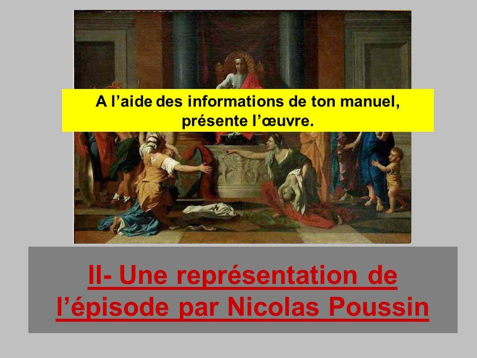 II- Une représentation de l'épisode par Nicolas Poussin