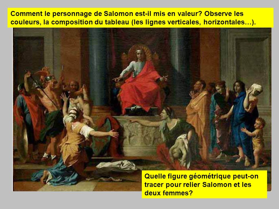 Comment le personnage de Salomon est-il mis en valeur