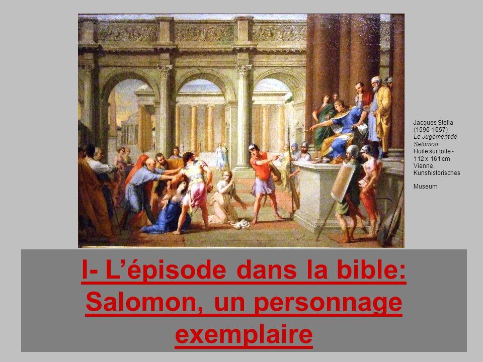 I- L'épisode dans la bible: Salomon, un personnage exemplaire