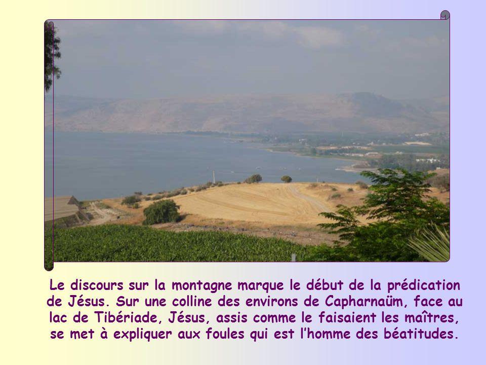 Le discours sur la montagne marque le début de la prédication de Jésus