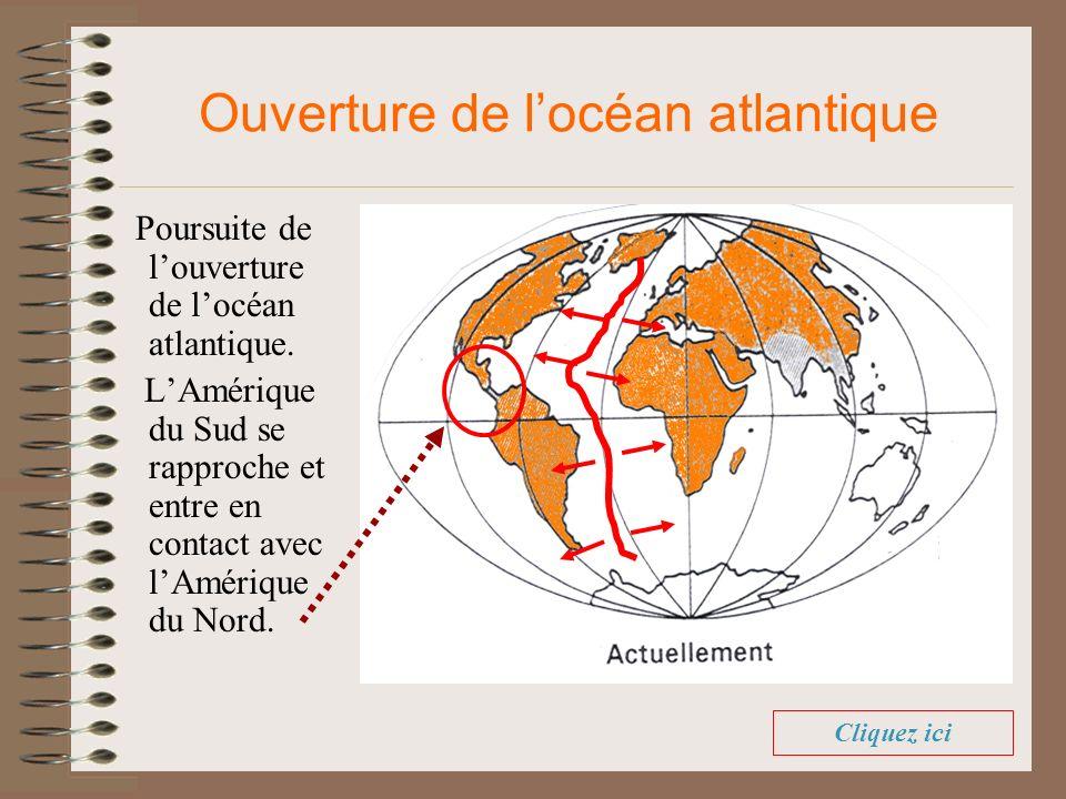 Ouverture de l'océan atlantique