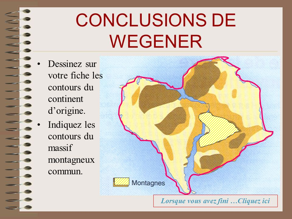 CONCLUSIONS DE WEGENER