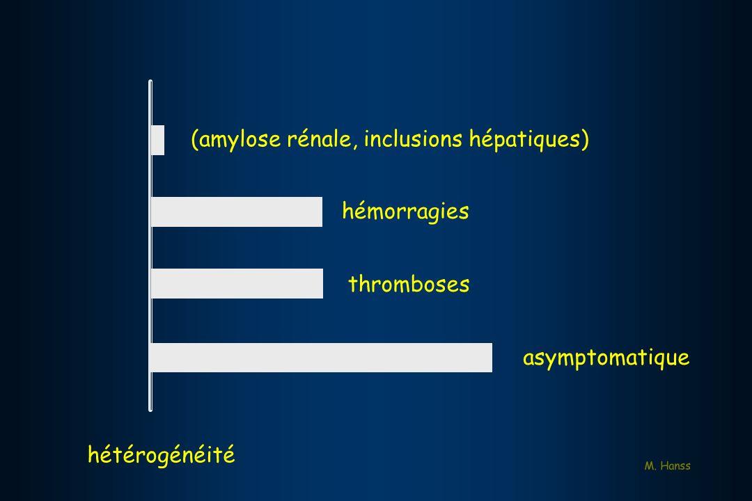 (amylose rénale, inclusions hépatiques)