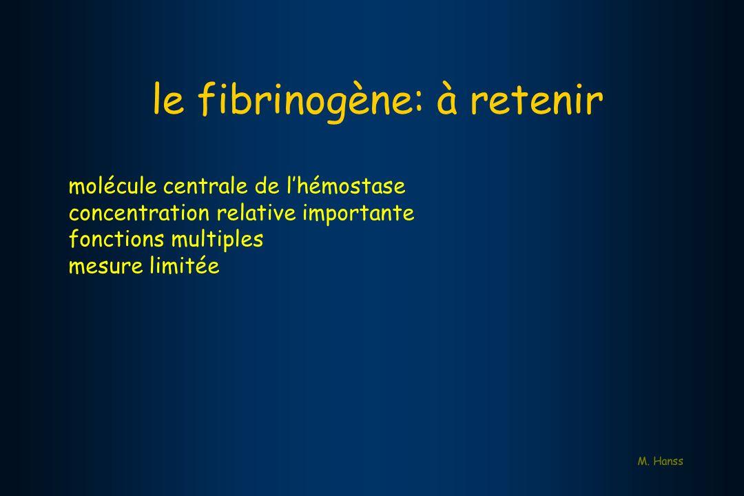 le fibrinogène: à retenir